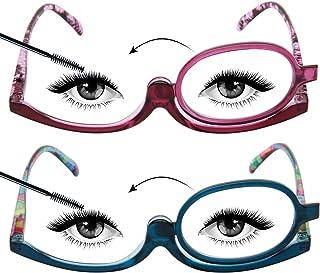 LianSan Make-upspiegel Leesbril 3.5 voor vrouwen Roterende lensvergroting