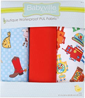 Babyville Boutique Package PUL Fabric, Cowboy and Robots