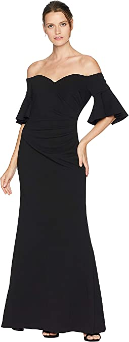Off Shoulder Short Sleeve Gown CD8B18PP