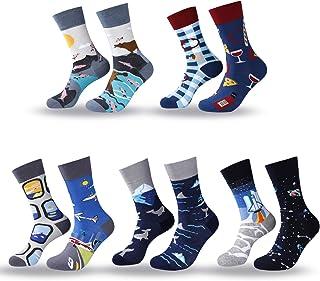 Calcetines de Hombre AB Calcetines Estampados Coloreados Algodón Calcetines Nuevo y de Calcetine Moda para Hombres y Niños 5 Pares