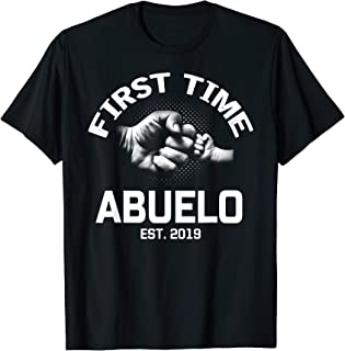 First Time Abuelo Est 2019 Shirt Father's Day Gift For Dad