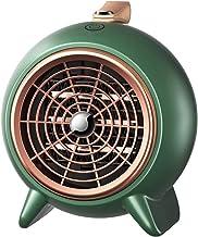 Mini Calefactor Eléctrico PTC Ventilador, Cerámico Caliente Ventilador, Calefactor de Aire Caliente, 300W /600W, Portátil para Dormitorio/Oficina/Hogar, Protección Contra Sobrecalentamiento