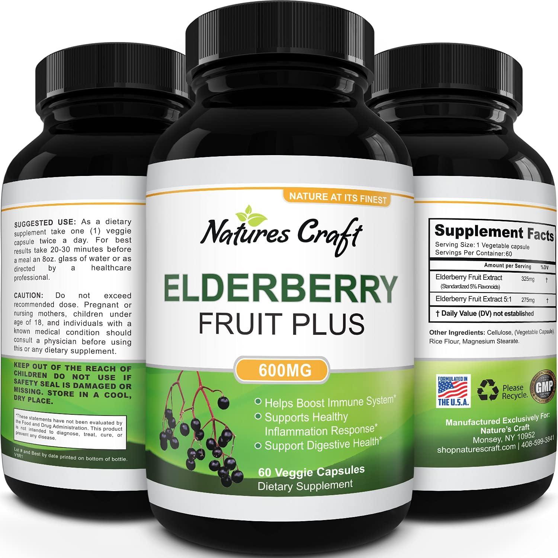 Black Elderberry Capsules Antioxidant Supplement Im Special price 2021 spring and summer new -