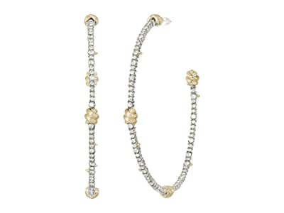 Alexis Bittar Crystal Pave Knotted Hoop Earrings (10K Gold/Rhodium) Earring