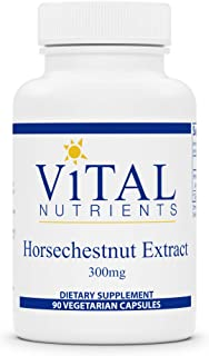 Vital Nutrients - Horsechestnut Extract - Circulation and Leg Vein Support with Aescin - 90 Vegetarian Caps...