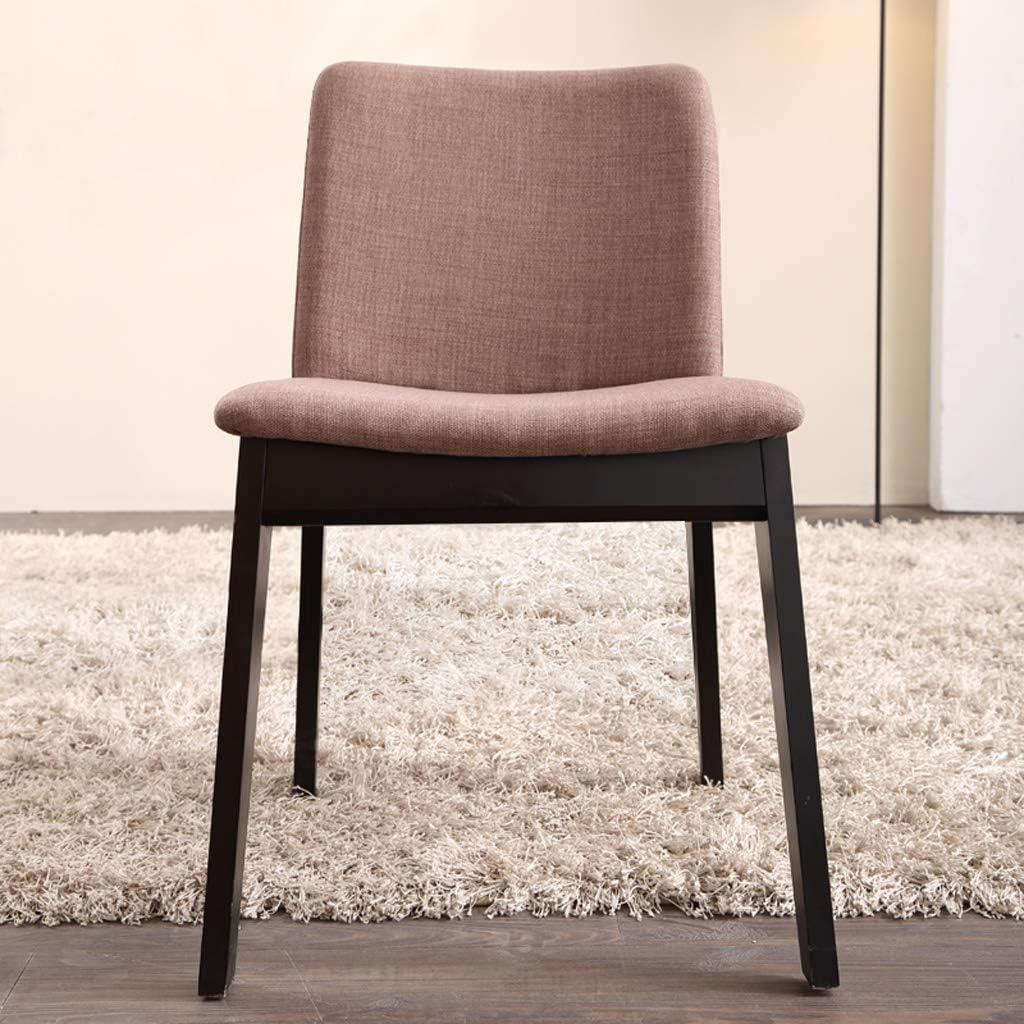 SLL- Chaise de Salle, Chaise de Bureau Simple, créative Dossier, Chaise Loisirs, Maison Adulte Chaise de Salle Moderne (Color : Green-B) Light Brown