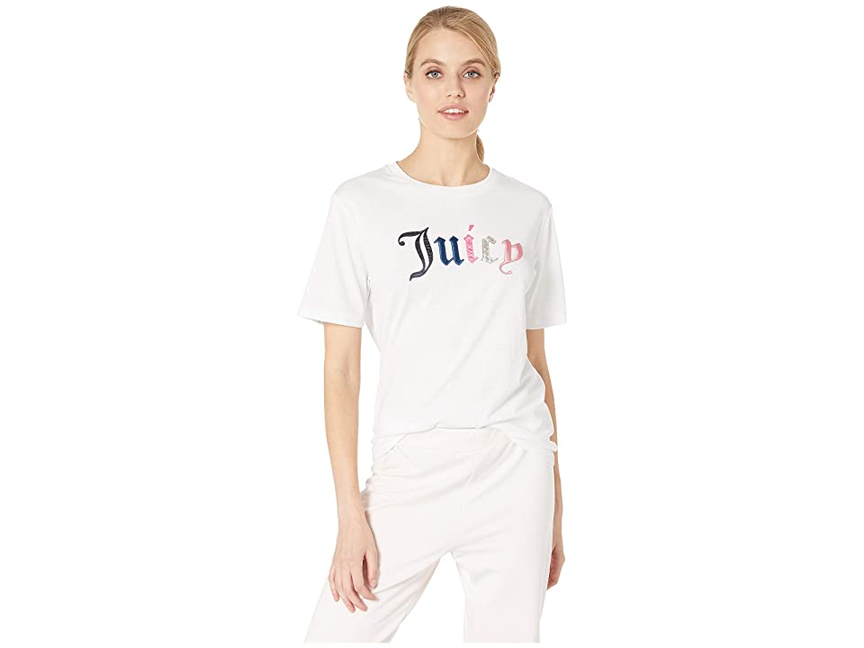 Juicy Couture Juicy Mixed Gothic Tee (White) Women