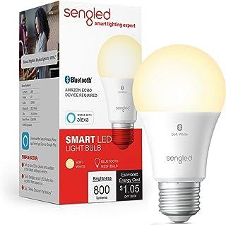 لامپ هوشمند Sengled ، لامپ بلوتوث مش Mesh که فقط با الکسا کار می کند ، LED قابل تنظیم ، 800LM ، سفید سفید 2700K ، 8.7W (معادل 60W) ، رنگ واقعی به زندگی ، 1 بسته