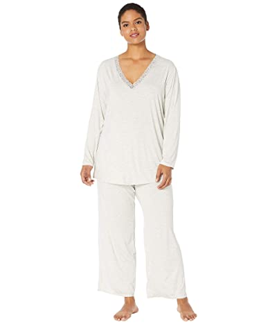 Natori Plus Size Feathers Essential PJ (Light Heather Grey) Women