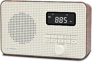LEMEGA DR2 Portable AM/FM Digital Radio,Wireless Bluetooth, Dual Alarms Clock,Kitchen/Sleep Timer,20 Preset Stations, Head...
