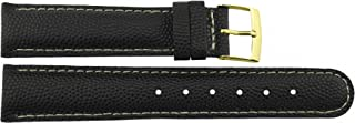 Citime Black Leather Band Replacement Pin Clasp, 18mm Strap B18BlkItr14G