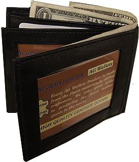 Bifold 財布 メンズ 本革 ブラック クレジットID カードホルダー スリム 財布 ギフト