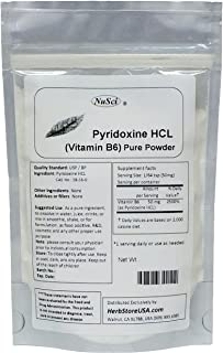 NuSci Pyridoxine HCl Vitamin B6 Pure Powder 100g (3.52oz)
