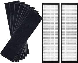 JUNHUI Air Purifier Filters Compatible with GermGuardian Air Purifier AC4825, AC4825E, AC4300BPTCA, AC4850PT, AC4900CA, CDAP450, Replacement FLT4825 Filter B, 2 HEPA + 8 Carbon Filters