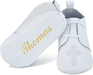 personalized baptism shoes