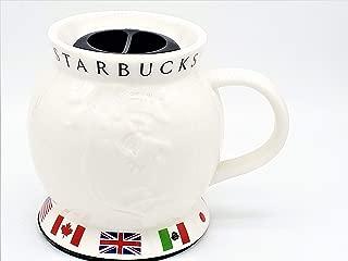 Starbucks Coffee Mug - Barista World Travel Collectible Globe Shape with Flags 2002