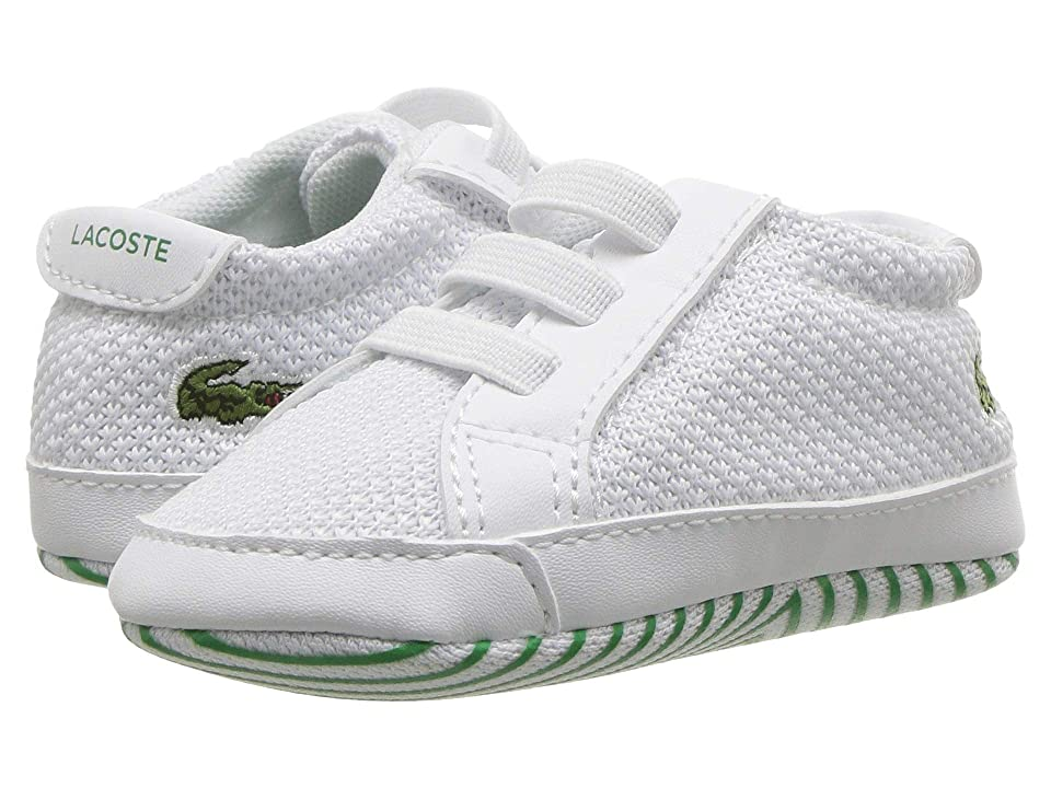 Lacoste Kids L.12.12 Crib 318 (Infant/Toddler) (White/Green) Kid