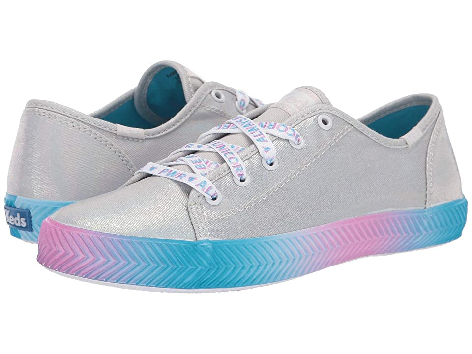 Keds Kids Kickstart Messaging (Little Kid/Big Kid) (Silver Messaging) Girl