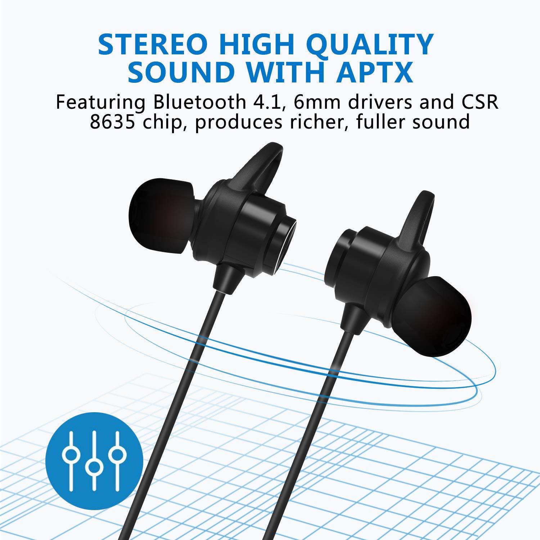 Auriculares Bluetooth, KOOHO E2 Bluetooth4.1 Magnéticos In-ear ...