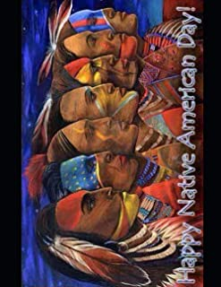 Native American Day with Glossy Cover | Wide-Ruled 120 Pages |Perfect gift, Children, Students,for school Paperback