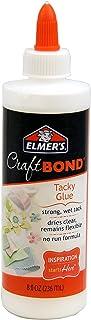 Elmer's E461 Craftbond Tacky Glue 8Oz, 8 oz, Multicolor