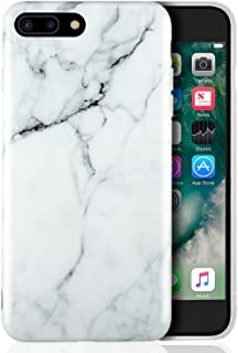 4f56580c2f7 Leathlux Funda para iPhone 8 Plus/iPhone 7 Plus, Premium Mármol Patrón  Suave TPU
