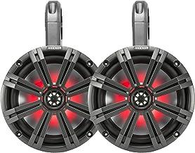 """$459 » Kicker PowerSports Black Weatherproof Tower Enclosures 8"""" Charcoal Marine LED OEM Speakers"""