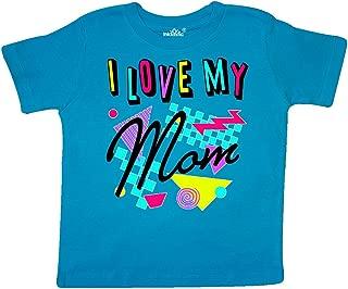 I Love My Mom- 80s Retro Style Toddler T-Shirt