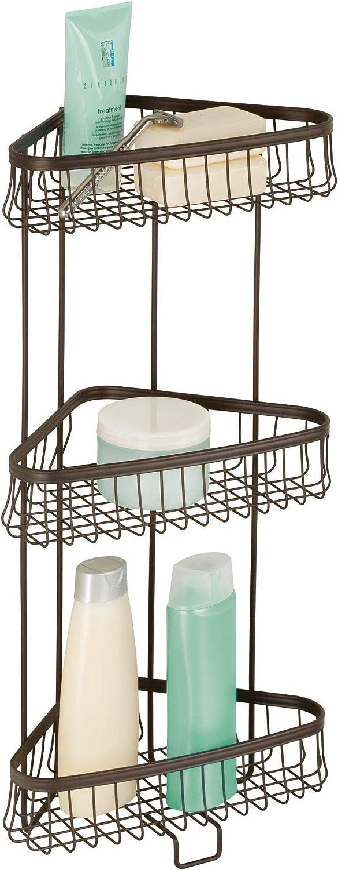 iDesign York Metal Wire Corner Shower Tampa Mall Standing Caddy Bath 5 ☆ popular 3-Tier