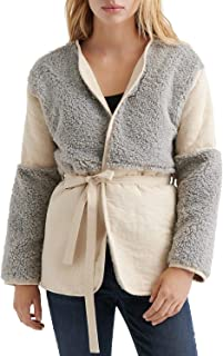 Lucky Brand womens MIXED SHERPA JACKET Jacket