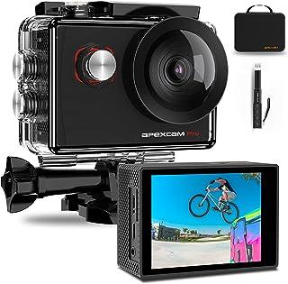 Apexcam 4K Action Cam Pro 20MP EIS WIFI Fotocamera Impermeabile 40M Sott'acqua Ultra HD Sports Camera Mic Esterno 2'' 2.4G Telecomando 170°Grandangolo con 2x1200mAh Batterie e Accessori