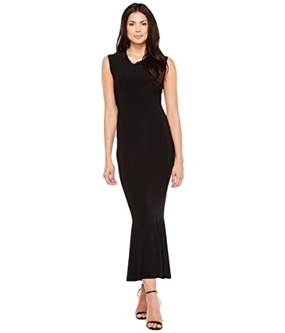KAMALIKULTURE by Norma Kamali Sleeveless Midcalf Fishtail Dress (Black) Women