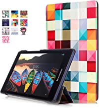 Lenovo Tab2 A8 Case, WITCASE Colorful Tri-Fold Multi-Angle Stand Tablet Case with Auto Sleep / Wake Function,Premium PU Leather Tablet Case for Lenovo Tab2 A8-50 8-Inch 16 GB Tablet - Psychedelic Cube