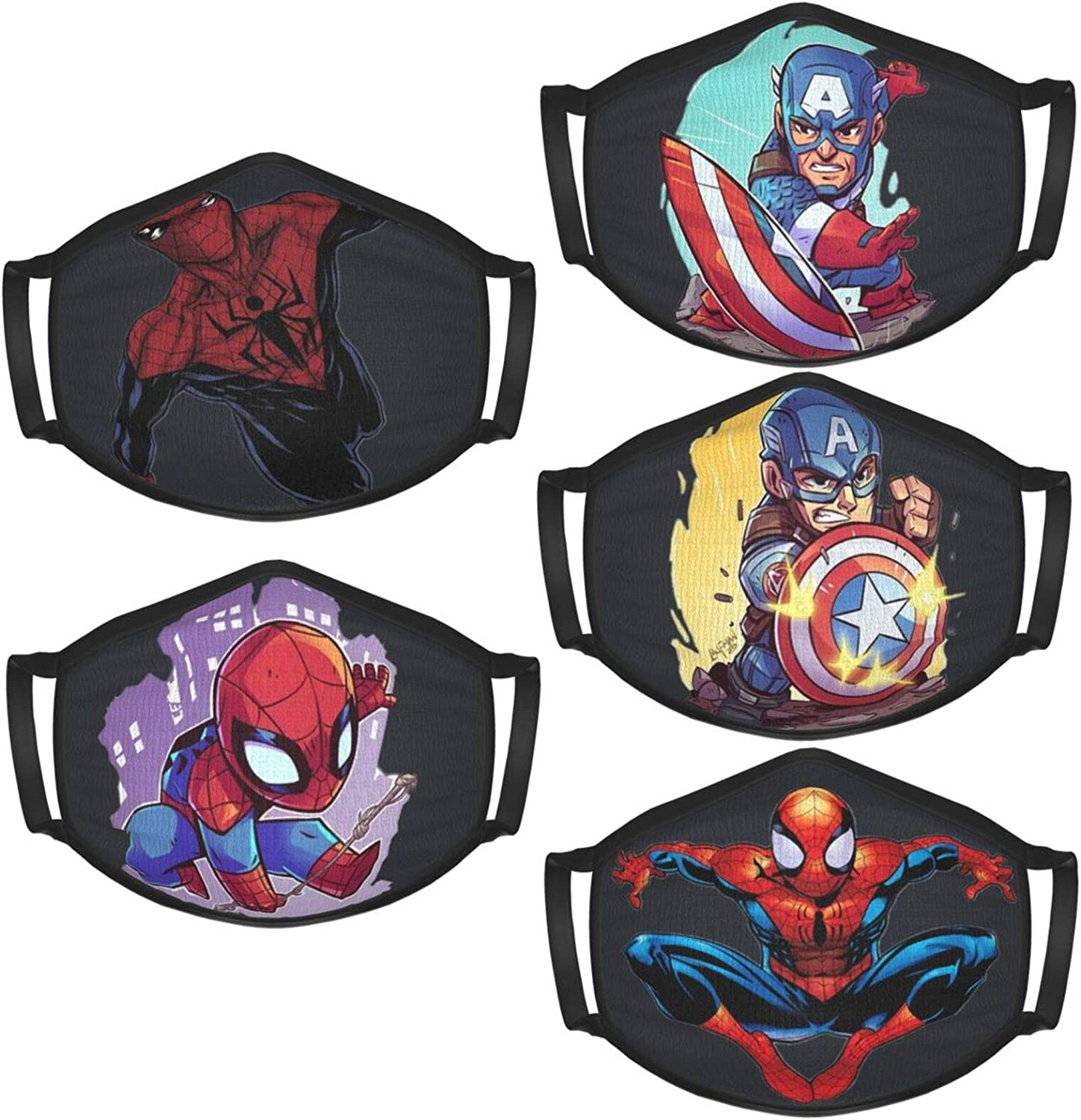 5-Pack Of Neutral Fabrics, Washable And Repeatable, Children'S Mask, Comfortable Protective Mask, Men'S And Women'S Styles Are Suitable For Outdoor Use