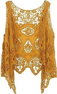 jastie Open Stitch Cardigan Boho Hippie Crochet Vest