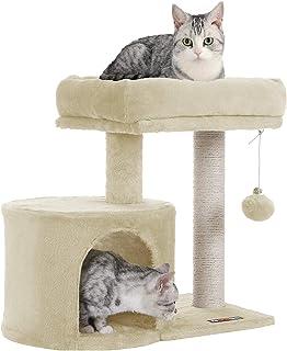 FEANDREA キャットタワー 小さめ ねこタワー コンパクト子猫とシニアも楽々 57CM PCT50