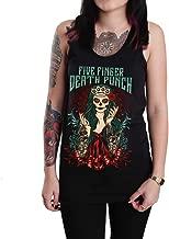 Rockstar Five Finger Death Punch Lady Muerta Unisex Tank Top Shirt Black (X-Large)