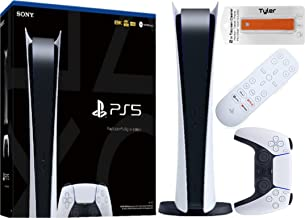 $1029 » Play Station 5 Digital Series Console with PS5 Media Remote & Tyler 2 in1 Screen Cleaner Package New PS5 Digital Console
