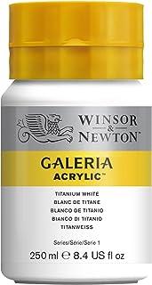 Winsor & Newton Acrílico Galería - Pintura acrílica 250 ml, Blanco de titanio
