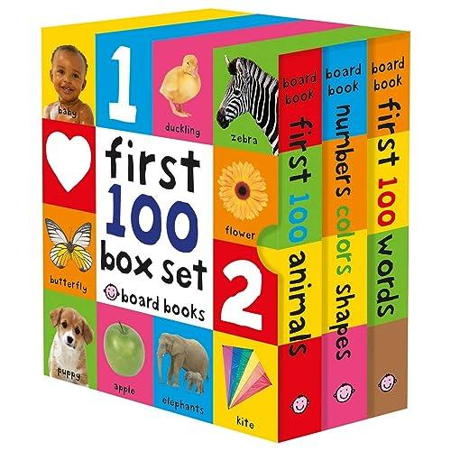 First 100 Board Book Box Set (3 books)