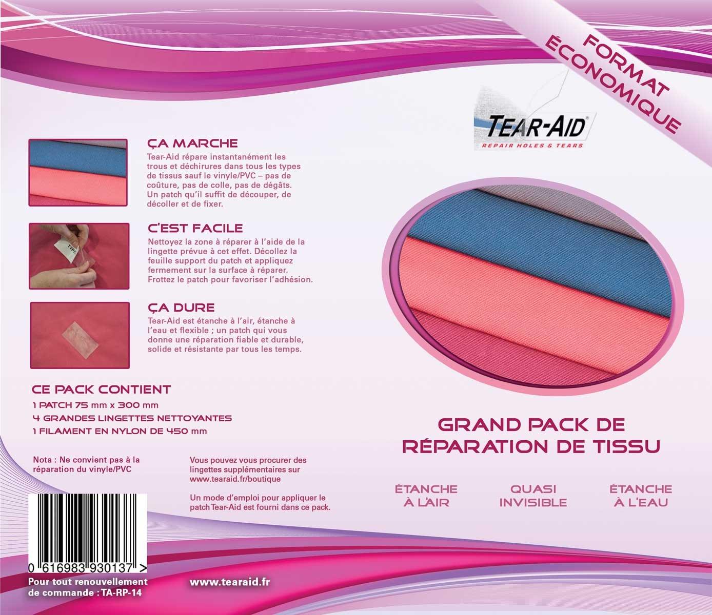 Paquete de reparación instantánea y sin pegamento de telas (nailon ...