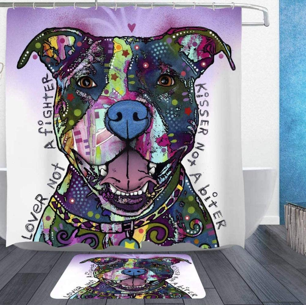 Bath Shower Curtains The Love of A Bull Sales results No. 1 Bathro Pit Pet Dog Decor overseas