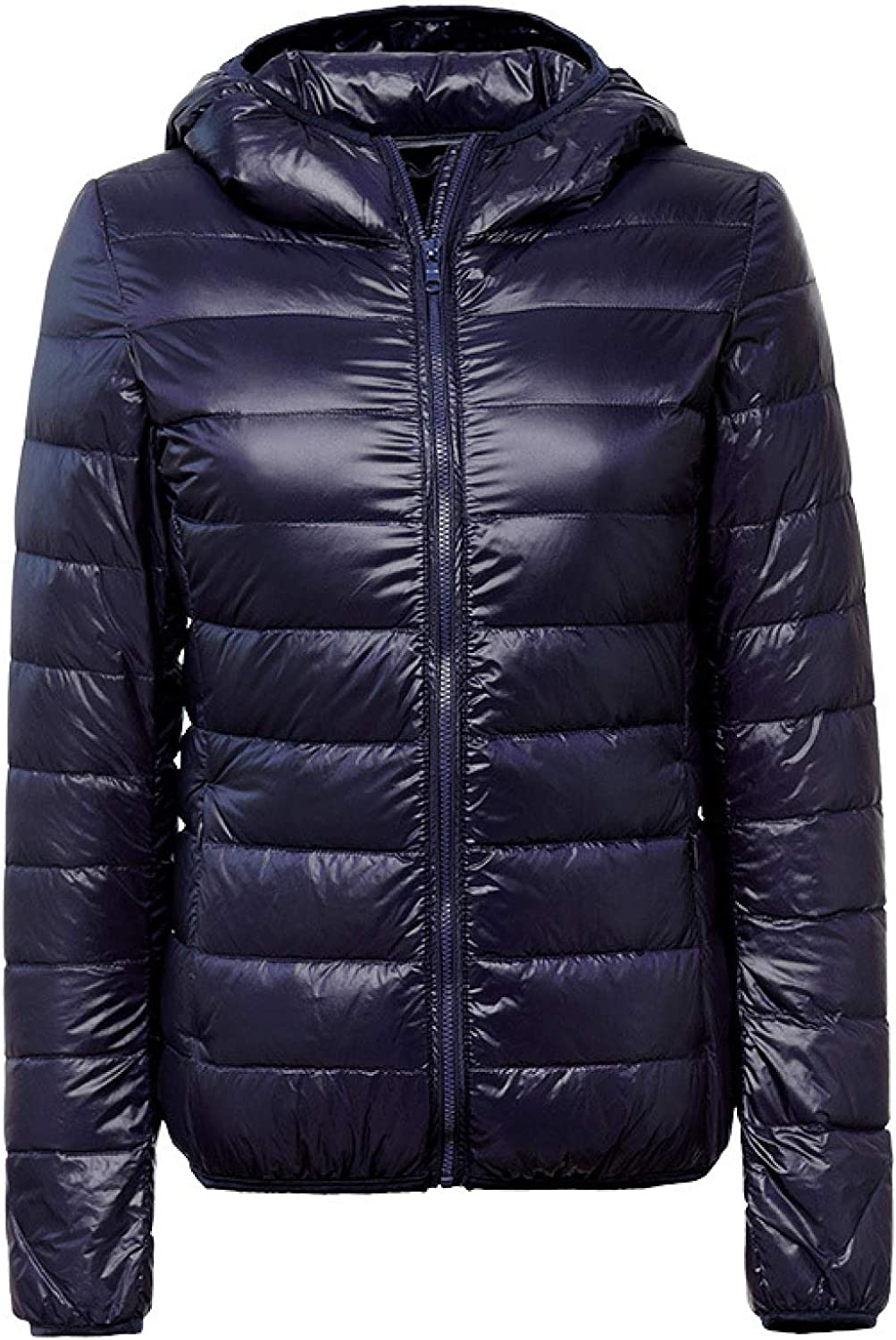 Women's Quilted Lightweight Jackets with Hoodies Winter Coat