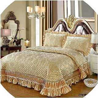 New Luxury Golden Wine Red Pink European Style Silk Jacquard Blanket Tatami Mat Bedspread Bed Sheet Bed Linen Pillowcases 3pcs,1,250X260cm 3pcs