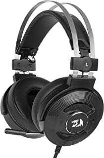 Redragon H991 TRITON Wired Active Noise Canceling Gaming Headset, 7.1 Channel Surround Stereo ANC Over-Ear Headphone with Microphone, Comfortable Leather Earbuds, with USB Port, Works for PC, Notebook