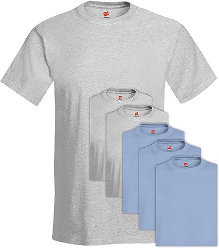 5280 Comfortsoft Hommes 's Pack Crew Neck Tee Medium 3 Cendres + 3 Bleu Clair