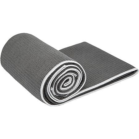 "Shandali Hot Yoga Towel - Stickyfiber Yoga Towel - Mat-Sized, Microfiber, Super Absorbent, Anti-Slip, Injury Free, 24"" x 72"" - Best Bikram Yoga Towel - Exercise, Fitness, Pilates, and Yoga Gear"