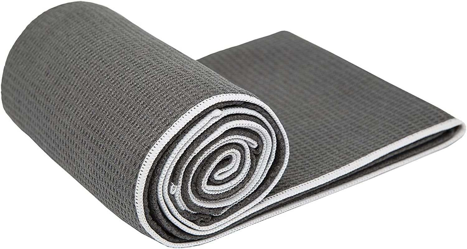 Hot Yoga TowelShandali Stickyfiber Yoga TowelMat-Sized, Microfiber, Super Absorbent, Anti-slip, Injury Free, 24  x 72 Best Bikram Yoga TowelExercise, Fitness, Pilates, and Yoga Gear