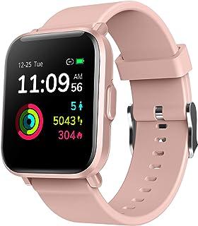 Reloj Inteligente Hombre Mujer, Smartwatch Fitness 24H Monitor de Oxigeno(SpO2)/Ritmo Cardíaco/Sueño 5ATM Impermeable Reloj GPS Running con 18 Modo Deportivos, Reloj Pantalla Táctil con Podómetr