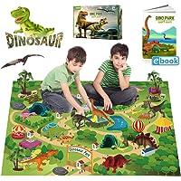EIAIA Dinosaur Toys Activity Play Mat with 9 Realistic Dinosaur Figures